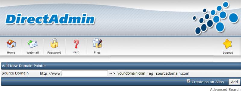 Domain Pointers در دایرکت ادمین