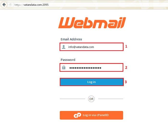 آموزش ورود به وب میل در کنترل پنل سی پنل