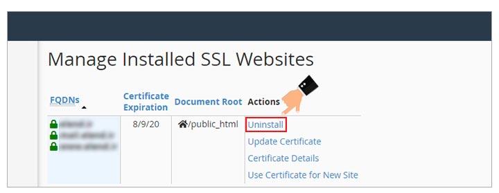 غیر فعال کردن ssl هاست سی پنل